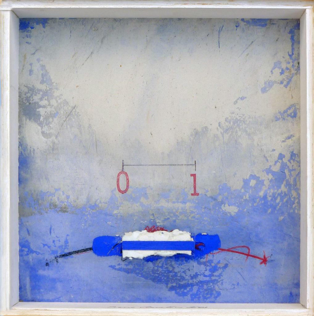Pierre Courtois - Sans titre - Boîte, techniques mixtes - 20 x 20 x 5 cm - 2001