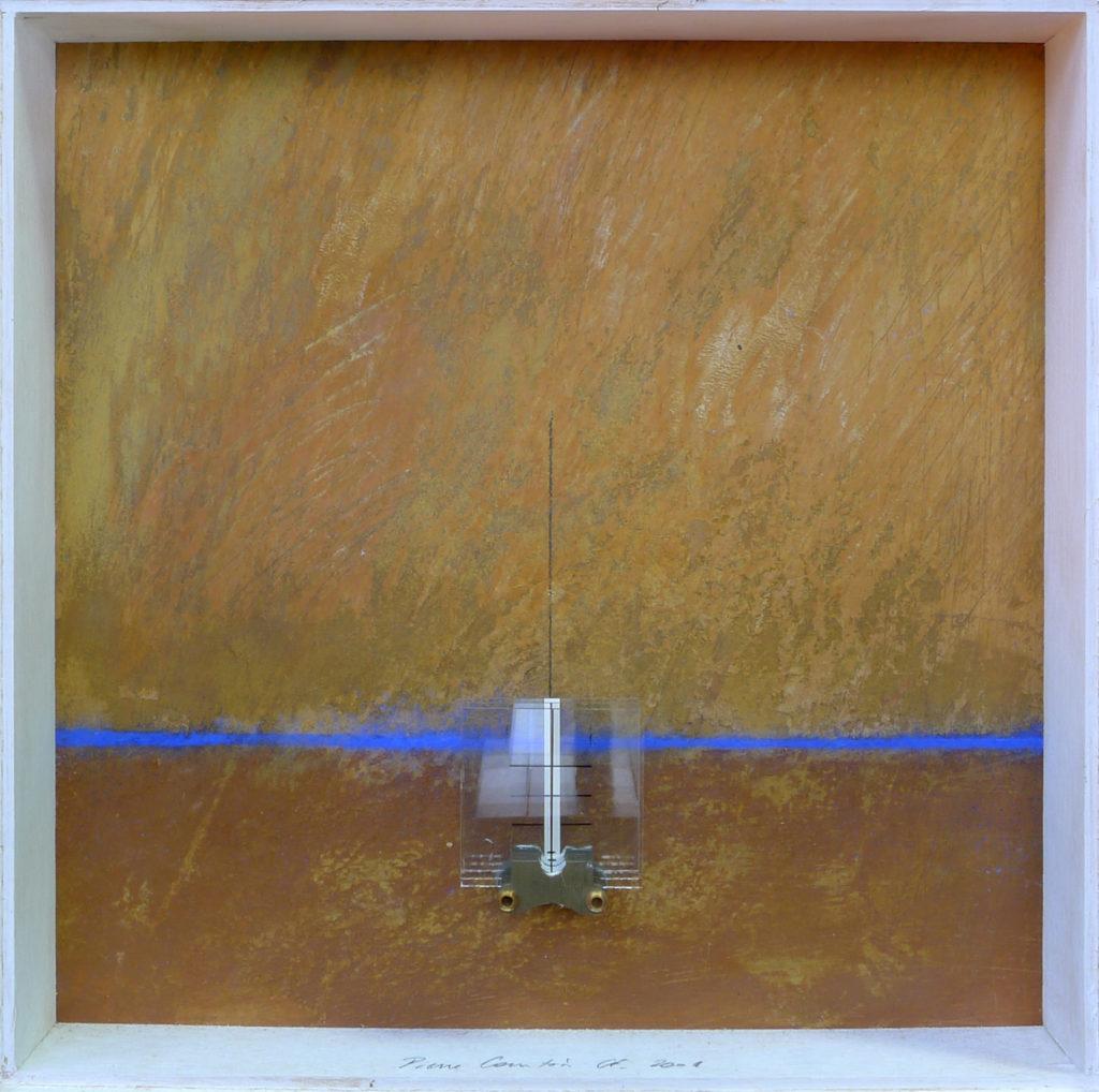 Pierre Courtois - Sans titre - Boîte, techniques mixtes - 30 x 30 x 5 cm - 2001