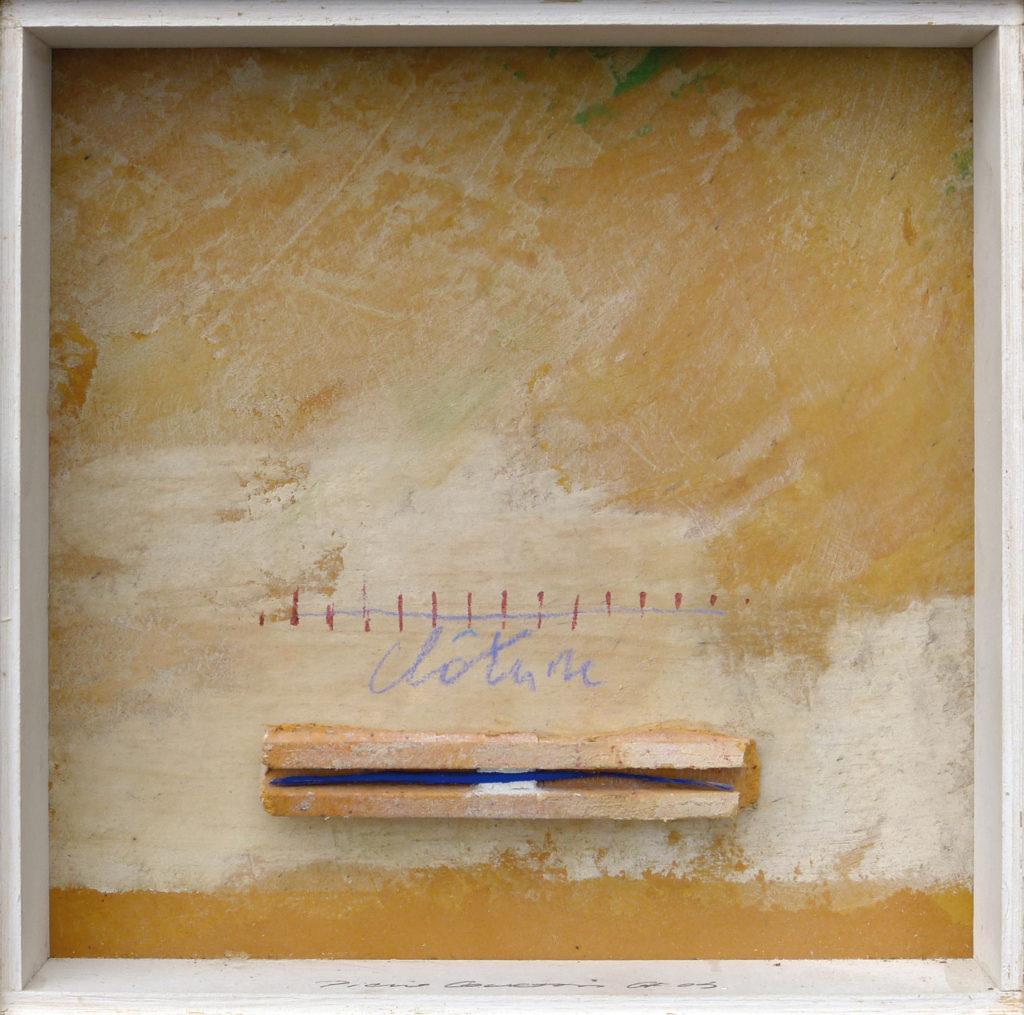 Pierre Courtois · Sans titre · Boîte, technique mixte, 18 x 18 x 4 cm · 1993