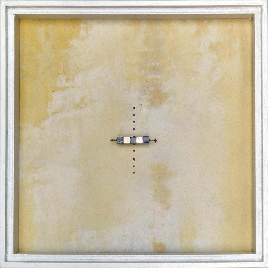Pierre Courtois – Sans titre - Boîte, techniques mixtes – 25 x 25 x 4 cm - 2015