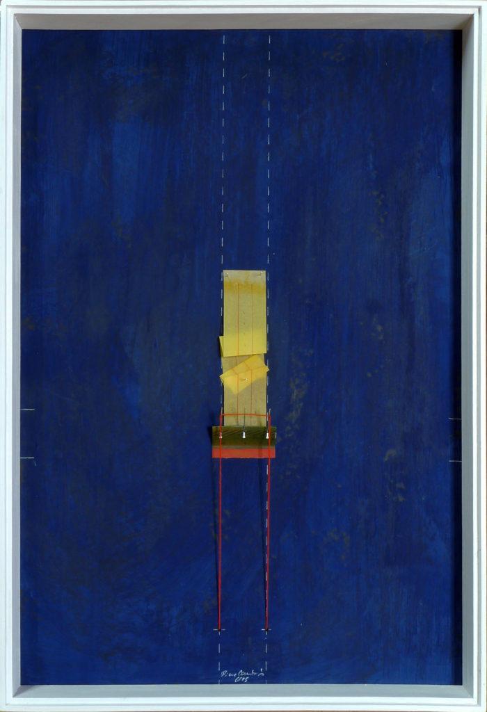 Pierre Courtois – Sans titre - Boîte, techniques mixtes et papier couture – 75 x 55 x 6 cm - 2015