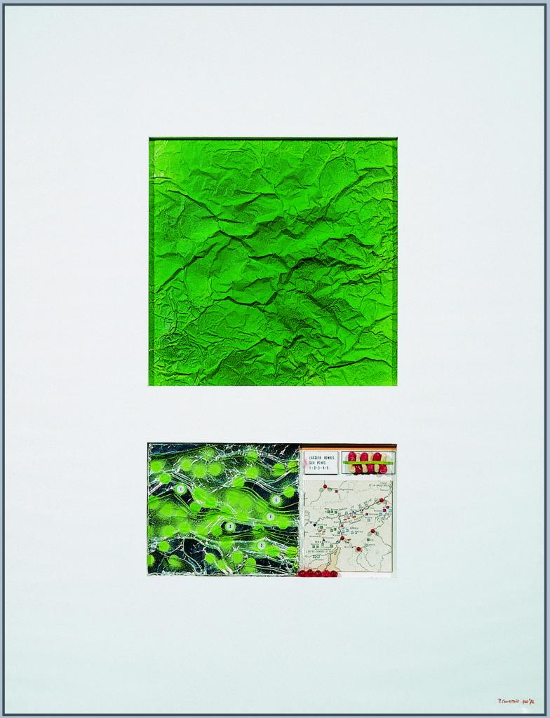 """Pierre Courtois · """"La bataille des Ardennes"""" · Technique mixte · 71 x 53 cm · 1972"""