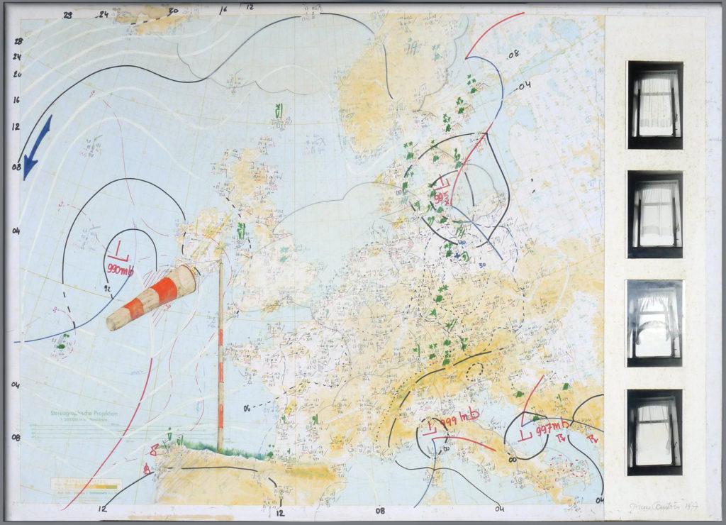 """Pierre Courtois · """"Dis-moi les vents"""" · Technique mixte · 61 x 87 cm · 1977"""