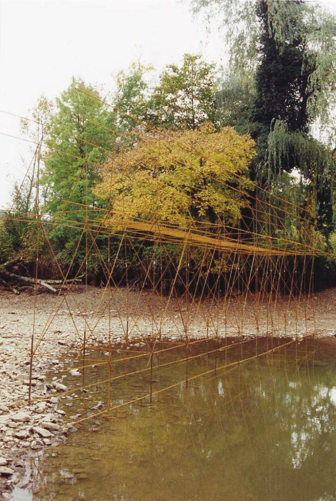 Pierre Courtois · Par delà · Intégration sur la Meuse en chômage, , l'art au gué Hastière par delà (B) · 1998