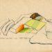 Pierre Courtois · Dessin de paysage, vallée de l'Ourthe · Encre et marqueur sur papier, 29 x 21 · 1970