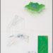 """Pierre Courtois . """"Projet piste de départ"""" . Dessin,technique mixte .72 x 53 cm . 1973"""