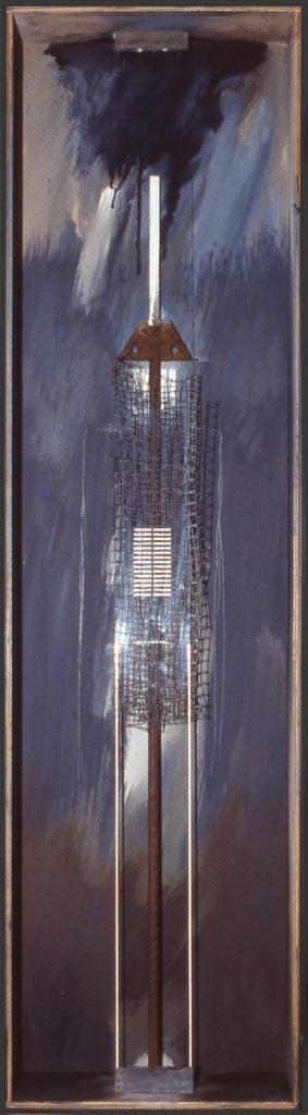 Pierre Courtois · Sans titre · Boîte, technique mixte, 120 x 30 x 11 · 1990