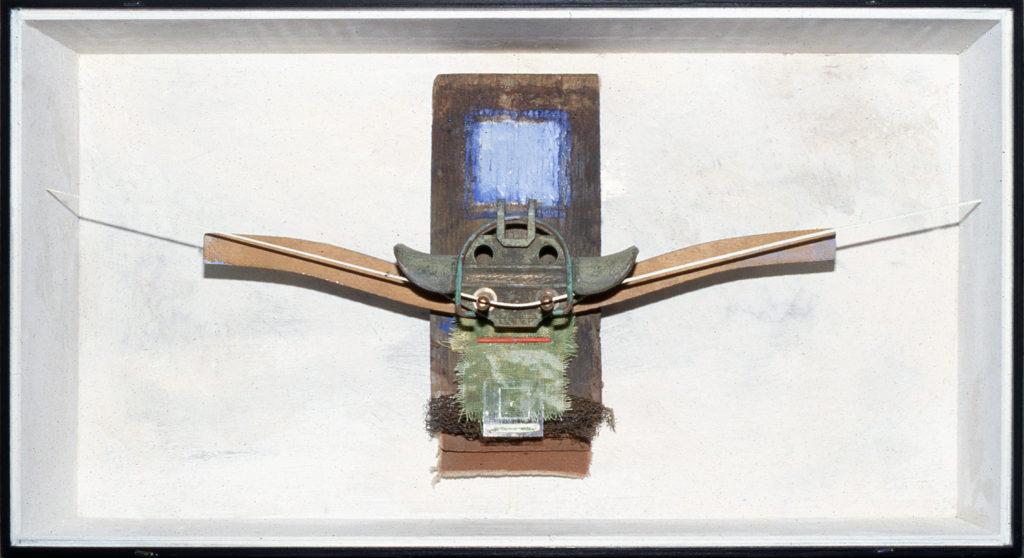 Pierre Courtois · Sans titre · Boîte, technique mixte, 30 x 60 x 11 · 1990
