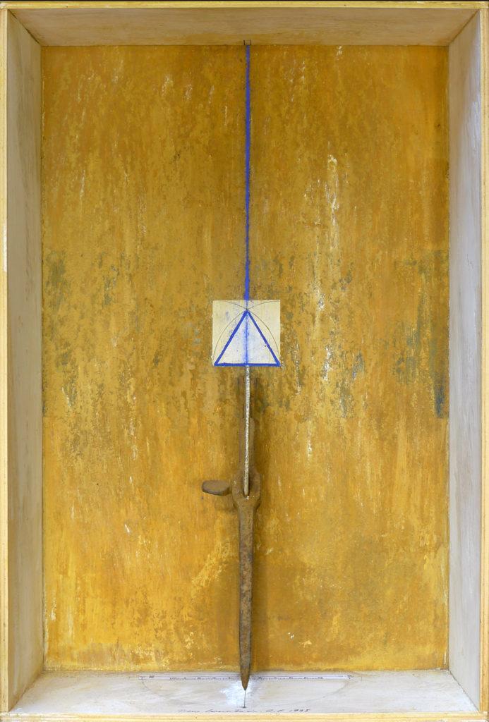 Pierre Courtois · Sans titre · Boîte, technique mixte, 45 x 30 x 11 cm · 1995