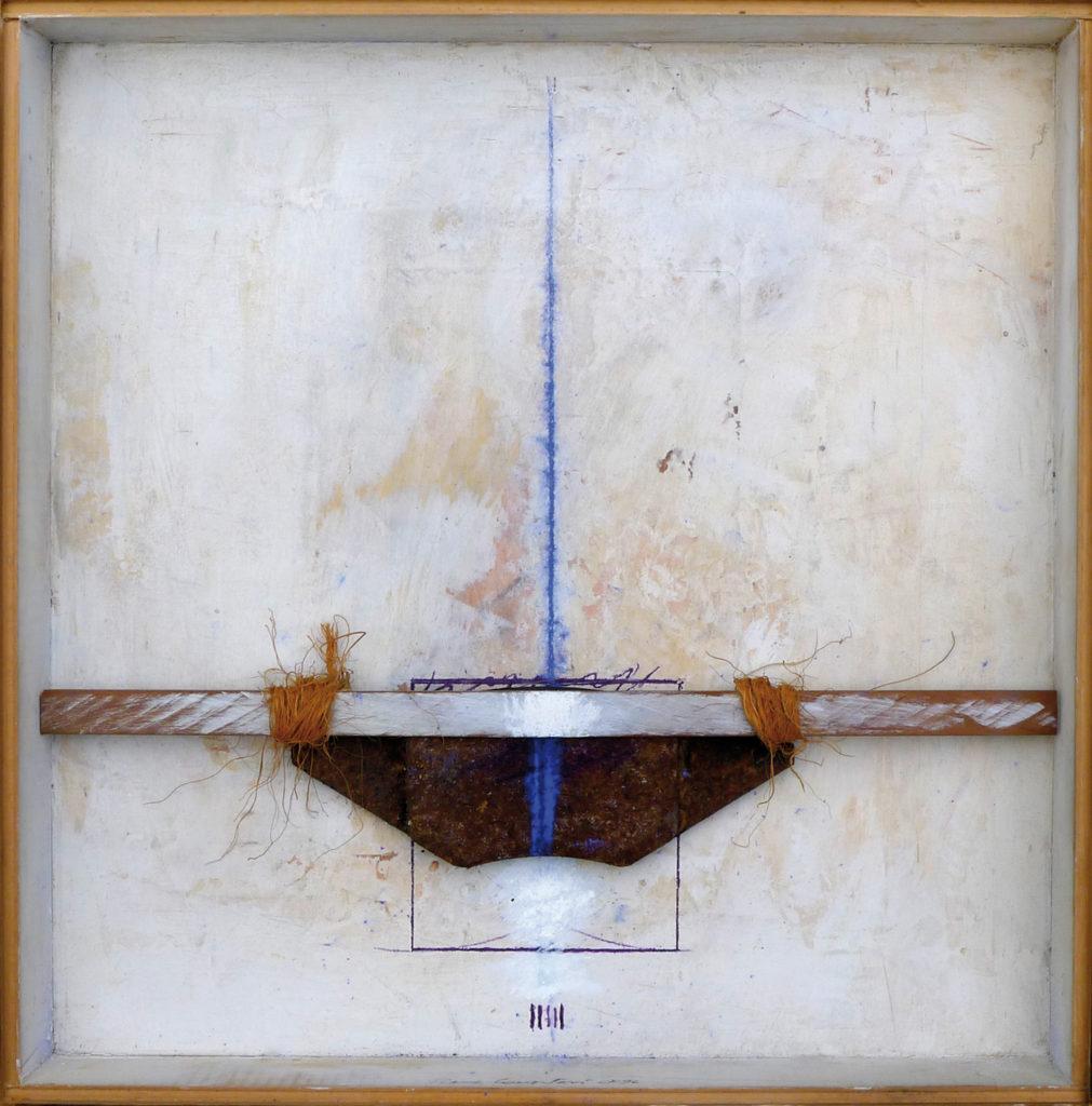 Pierre Courtois · Sans titre · Boîte, technique mixte, 30 x 30 x 4 cm · 1996