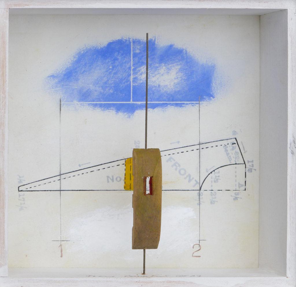 Pierre Courtois - Boîte sans titre, technique mixte - 15 x 15 x 4 cm - 1997