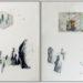 Pierre Courtois · Alignement de 1 à 24 · Technique mixte, 60 x 128 cm· 1973