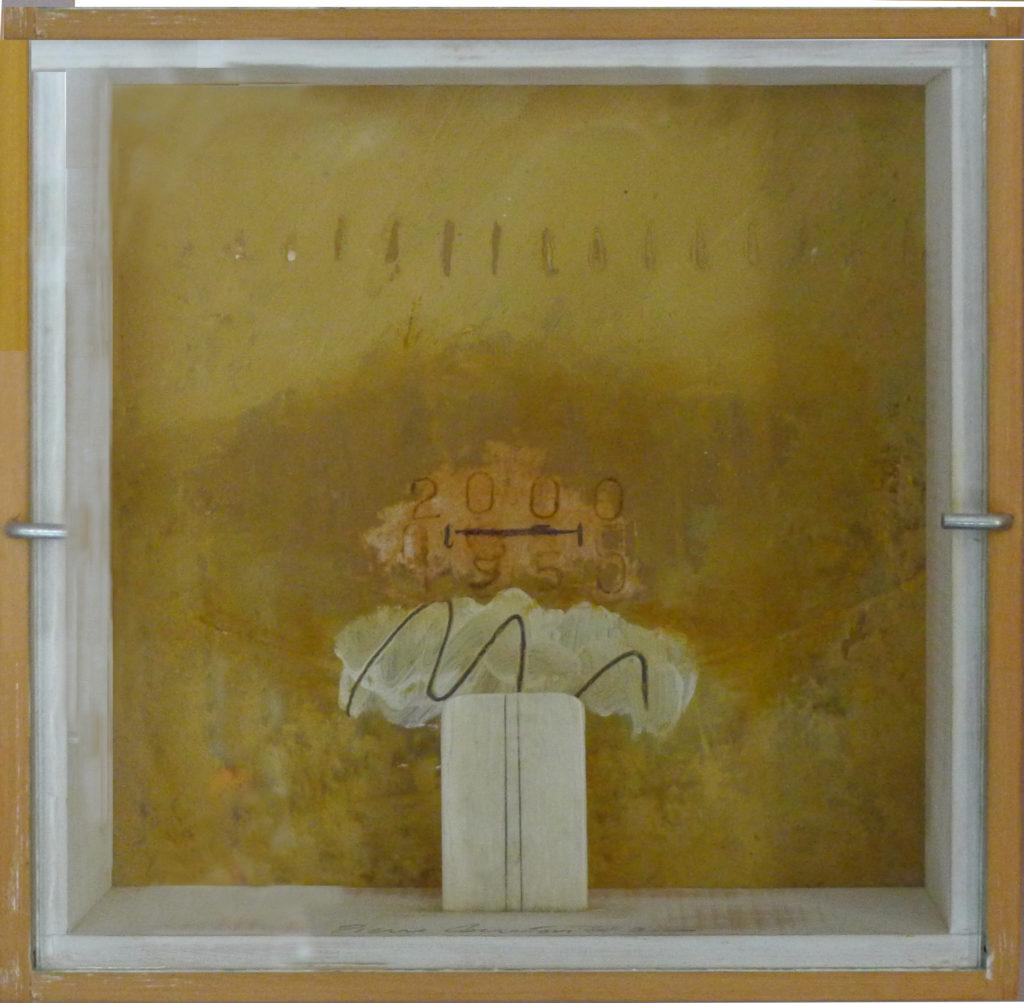 Pierre Courtois · Sans titre · Boîte, technique mixte, 15 x 15 x 4 cm · 2000