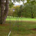 Pierre Courtois. Fore - Balistique, paraboles 2 – Sculptures in situ - Green Art Rougemont - Golf de Rougemont, Profondeville (BE) - 2017