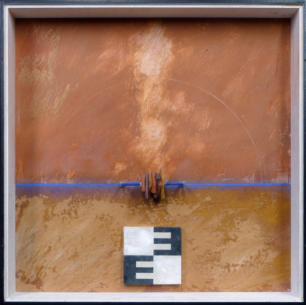 Pierre Courtois - Sans titre - Boîte, techniques mixtes - 50 x 50 x 5 cm - 2001