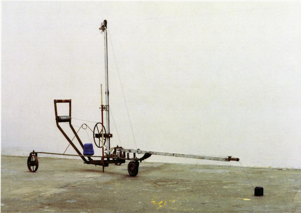 Pierre Courtois · Point de visée pour un tracé · Montage, technique mixte, Musée des Beaux-Arts, Verviers (B) · 1996