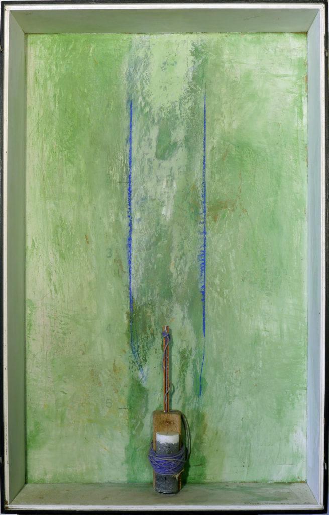 Pierre Courtois · Sans titre · Boîte, technique mixte, 75 x 45 x 11 cm · 1993