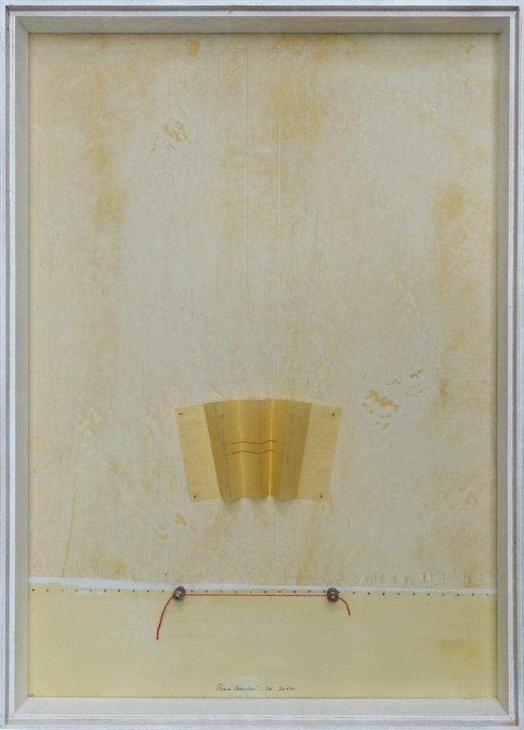 Pierre Courtois – Sans titre - Boîte, techniques mixtes, papier couture et métal – 65 x 46 x 5 cm - 2012