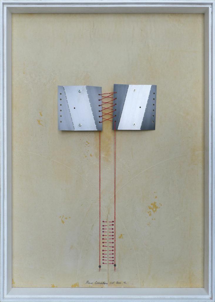 Pierre Courtois – Sans titre - Boîte, techniques mixtes et métal – 65 x 46 x 5 cm - 2012