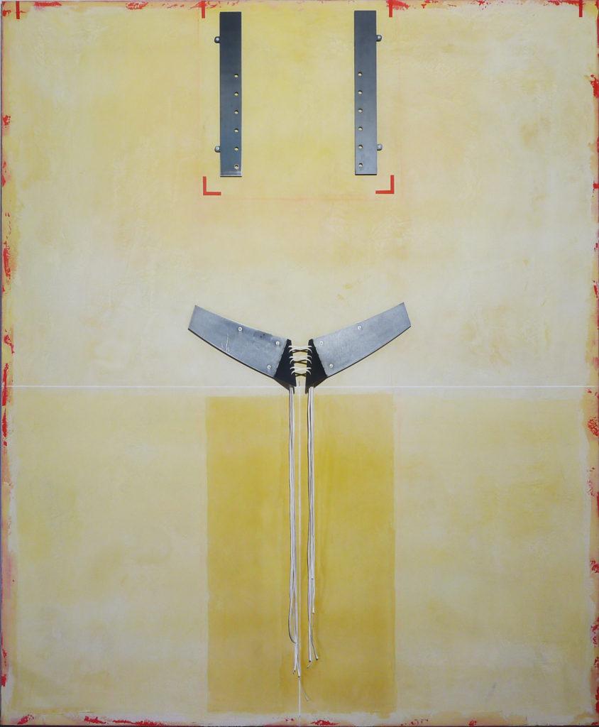 Pierre Courtois – Sans titre – Enduits muraux, pigments et métal sur panneau - 203 x 165 cm-2012