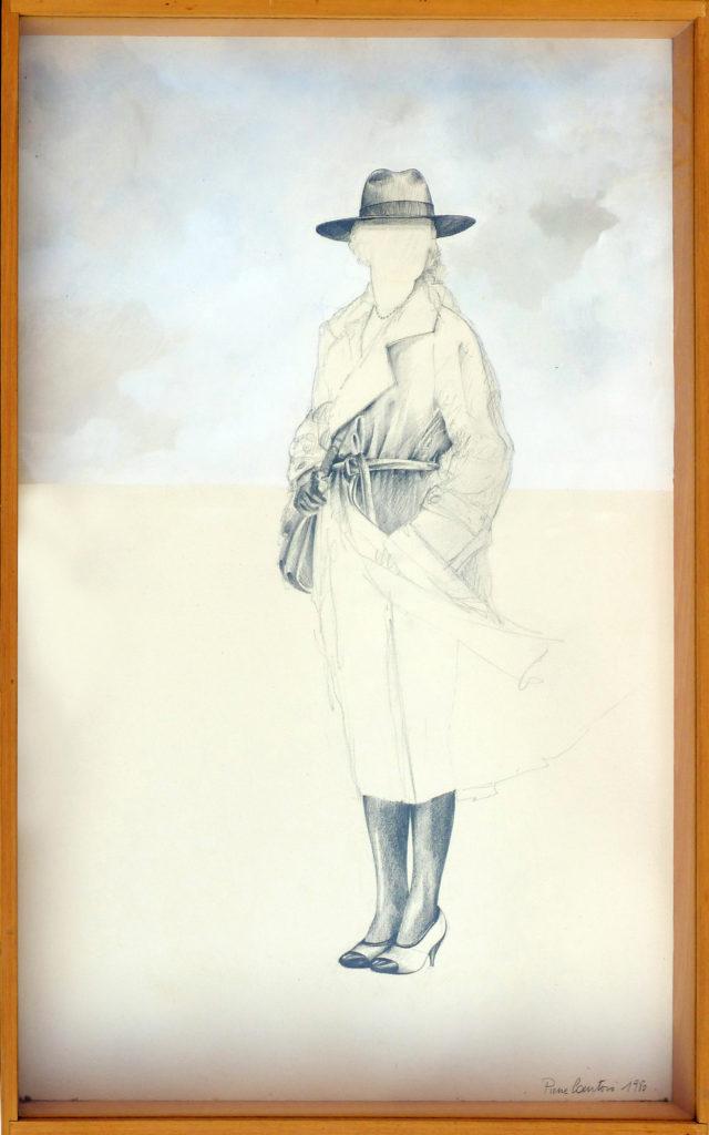 """Pierre Courtois · """"sans titre"""" · Dessin, gouache · 60 x 43 · 1980"""