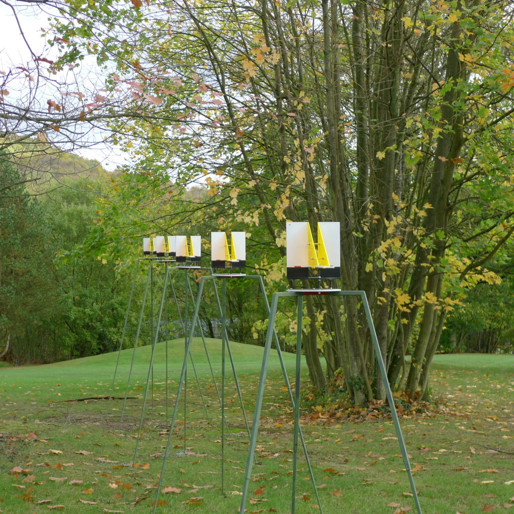 Pierre Courtois. Fore, Points de suspension – Sculptures in situ - Green Art Rougemont - Golf de Rougemont, Profondeville (BE) - 2017