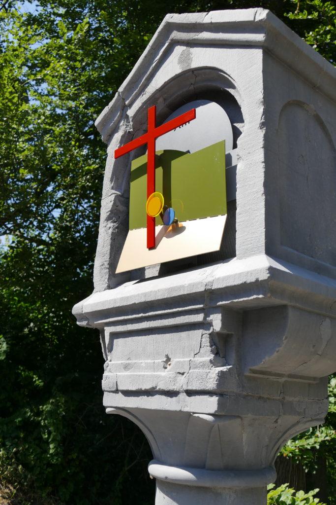 Pierre Courtois - Chemin de Croix – Installation à Celles ( Houyet) (B) - 2018