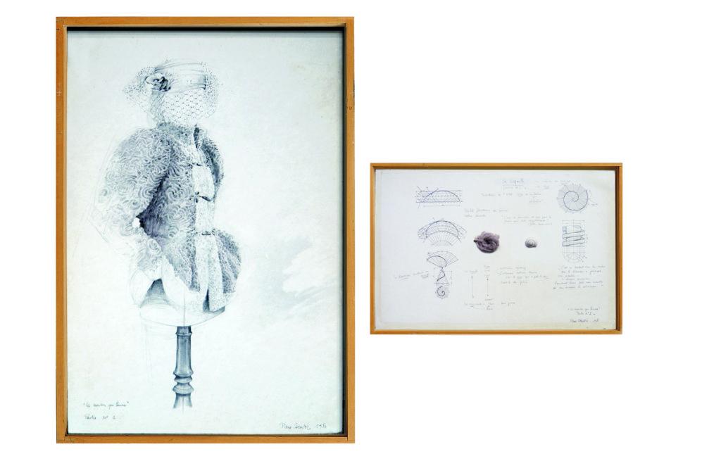 """Pierre Courtois · """"La maison qui tourne"""", 3 parties détail · Technique mixte · 1980"""