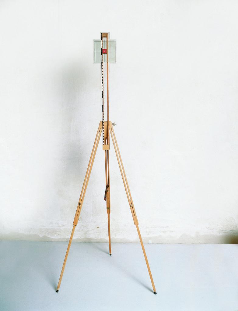 Pierre Courtois · La ligne d'horizon · Mise sur chevalet de campagne, Cote 163 Maison de la Culture, Namur (B) · 1991