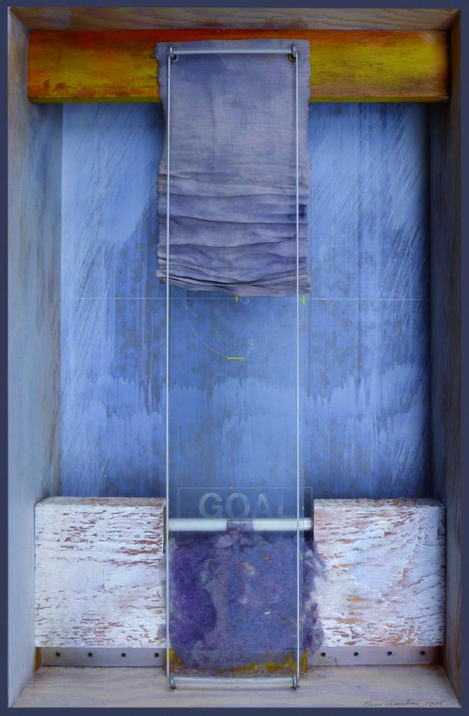 """Pierre Courtois · """" Goal"""", boîte technique mixte · 45 x 30 x 11 cm · 1985"""
