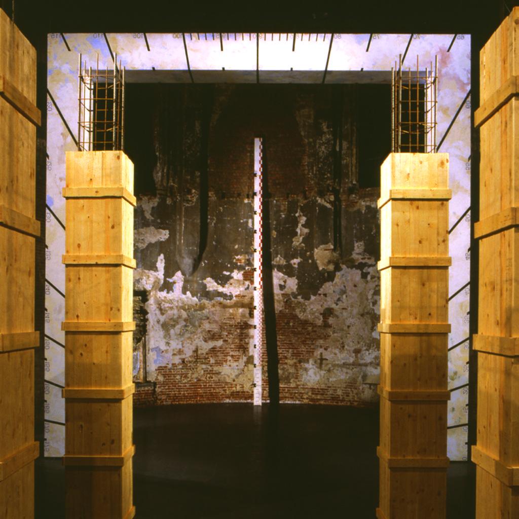 Pierre Courtois - L'Aller Vers - 1993 - Intégration - Chapelle des Brigittines - Bruxelles - Détail