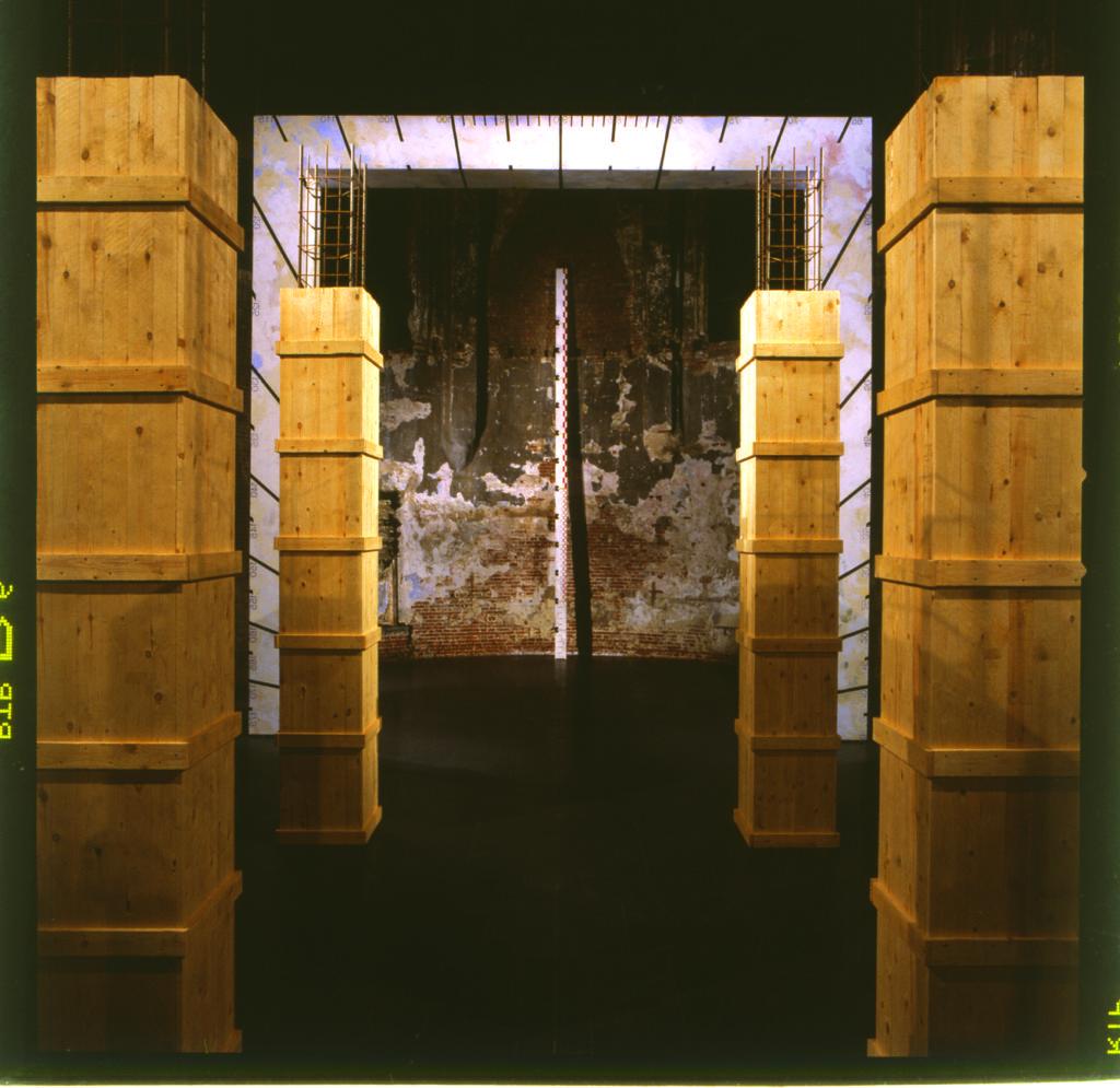 Pierre Courtois - L'Aller Vers - Intégration - Chapelle des Brigittines - Bruxelles - Détail . 1993
