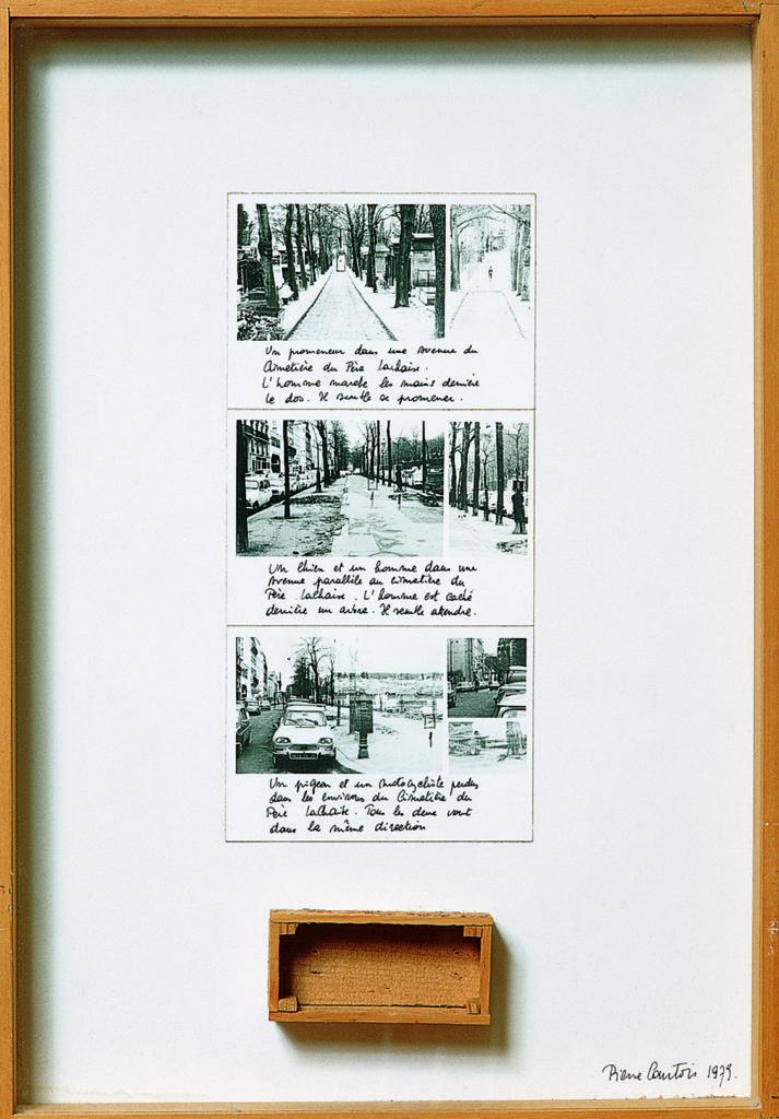 """Pierre Courtois · """"Promenade au Père Lachaise"""" · Technique mixte ·45 x 31 cm · 1978"""