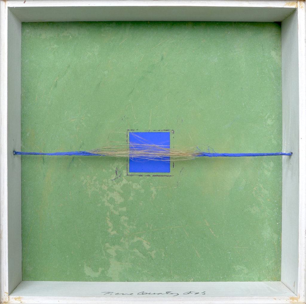 Pierre Courtois – Sans titre - Boîte, techniques mixtes - 30 x 30 x 5 cm - 2003
