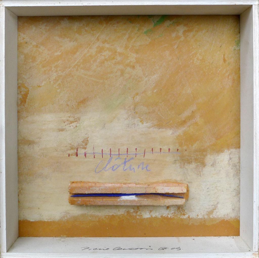Pierre Courtois – Sans titre - Boîte, techniques mixtes - 20 x 20 x 5 cm - 2003