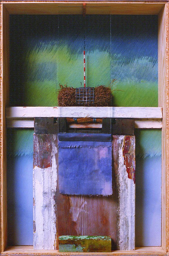Pierre Courtois · Sans titre, boîte technique mixte · 45 x 30 x 11 cm · 1985