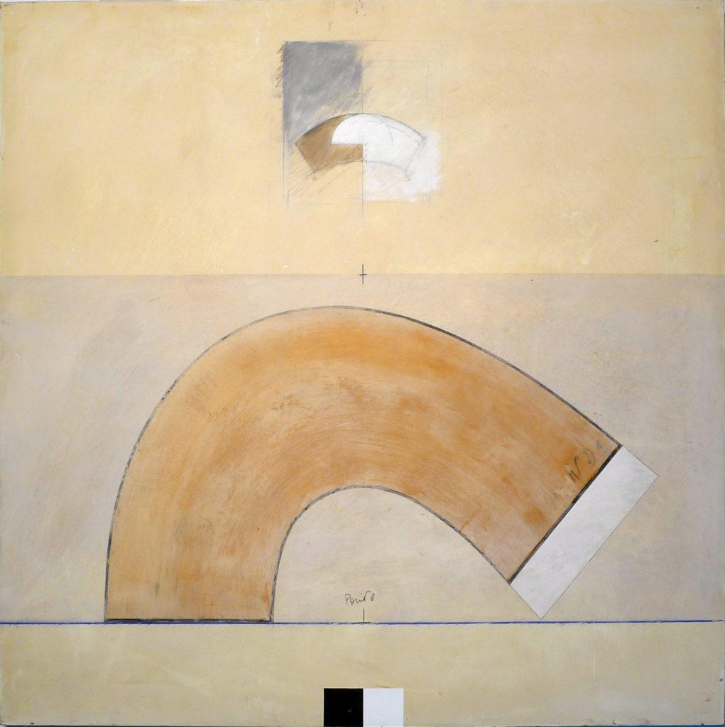 Pierre Courtois – Sans titre – Enduits muraux, pigments sur panneau - 93 x 93 cm - 2003