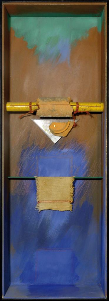 Pierre Courtois · Sans titre · Boîte, technique mixte, 90 x 30 x 11 · 1989
