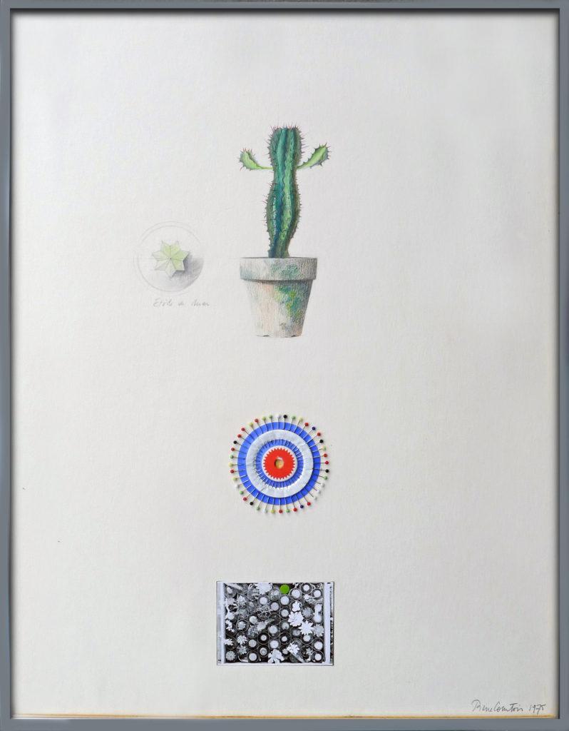 """Pierre Courtois · """"Vendu en vrac"""" · Technique mixte · 84 x 60 cm · 1975"""