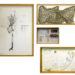 Pierre Courtois - Le noeud double - Montage en 4 parties - 60 x 43 cm et formats divers . 1980